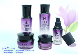 High End Grade Cosmetics Glass Bottle and Jar Cy-06