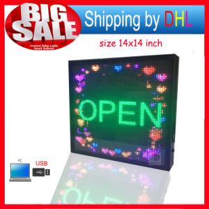 Outdoor Full Color LED Display Billboard USB Editable Support Text Logo Image Advertising LED Display Sign pictures & photos