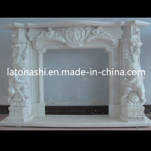 Natural Stone Carving Sculptured Marble Fireplace Mantel Carved Statued Firepalce pictures & photos