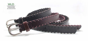 Fashion Skinny Genuine Top Leather Lady Belt Lky1186 pictures & photos