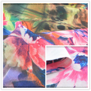 Imitation Digital Printed 75D DTY Thick Scuba Polyester Fabric Garment Fabric pictures & photos