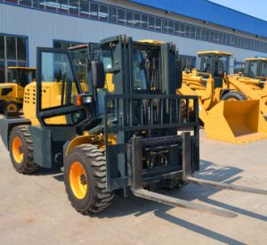 Diesel Forklift All Wheel Drive 3500kg Capacity with CE pictures & photos