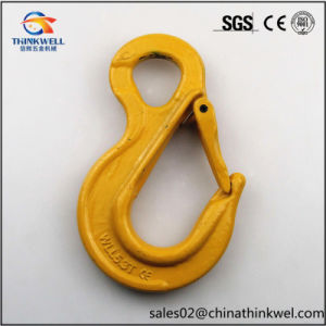 G80 Forged Alloy Steel Eye Sling Hook with Latch pictures & photos