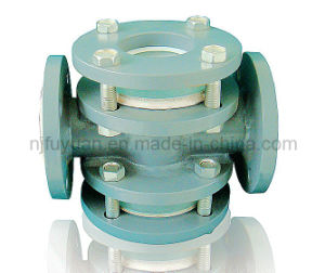 Pofessional Manufacturer of PTFE Lined Cross Sight Glass pictures & photos