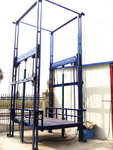 Upright Home Guide Rail Hydraulic Lift with Electric Box pictures & photos