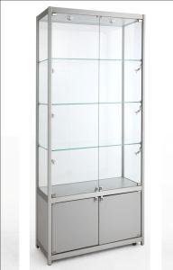 Beautiful Mordern Aluminium Frame Glass Display Showcase, Glass Jewelry Display  Cabinet