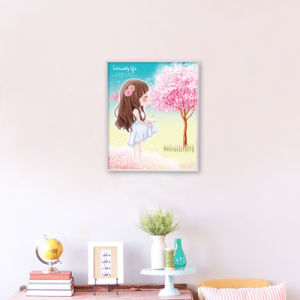 Factory Direct Wholesale New Children DIY Crystal Modern Flower Wall Art Canvas Home Decoration K-033 pictures & photos