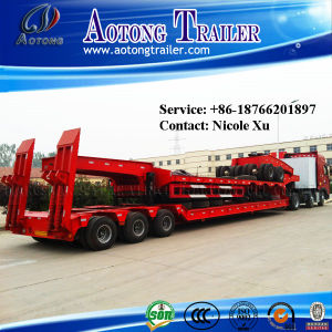 Heavy Cargo Transport Low Bed Semi Truck Trailer 35-100 Tons pictures & photos