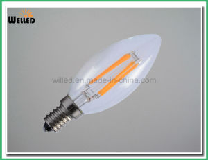 2W 4W 6W Edison Type COB Filament C35 LED Candle Light E14 E27 for Decorative Chandelier pictures & photos