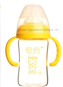 180ml High Borosilicate Glass Feeding Bottle BPA Free pictures & photos