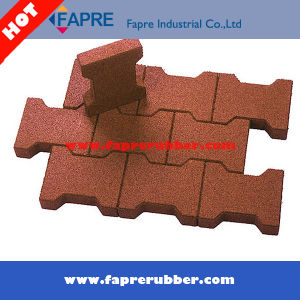 Outdoor Rubber Flooring/Interlocking Rubber Tiles/Colorful Rubber Paver pictures & photos