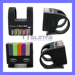 High Speed USB2.0 USB Drive Port Power Adapter 3.0 Colorful 7 Port USB Hub with Clamp Computer Accessories Folding Hubs pictures & photos