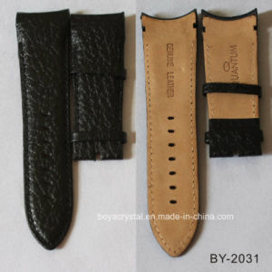 Black Cowhide Leather Watch Belt for Businessman by-2031