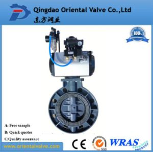 Ductile Iron Pneumatic Butterfly Valve Dn125 Price pictures & photos