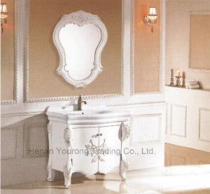 Solid Wood Bathroom Cabinet with Mirror (No. 8036)