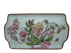 Daily Use Porcelain Ceramic Tray with Ear/Rectangular Saucer (FB2317)