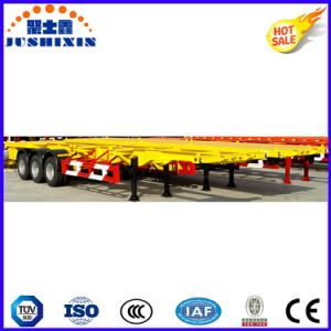Tri Axles Skeleton Container Semi Trailer with Twist Locks pictures & photos