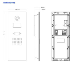 Dahua Apartment Outdoor Station Video Intercom (VTO1210B-X) pictures & photos