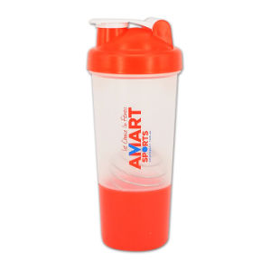 500ml Plastic Protein Shaker Bottle with Netting and Compartment pictures & photos