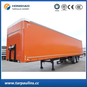 Truck Cover Flame-Retardant Glass Fiber PVC Coated Tarpaulin pictures & photos