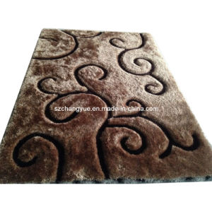 High Quality Polyester Modern Shaggy Carpets with 3D Effects pictures & photos