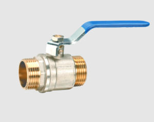 CE Certified Nickel Plating Male Brass Ball Valve