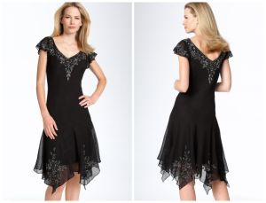 V Neck Plus Size Mother of The Bride Dress (XYN-216)