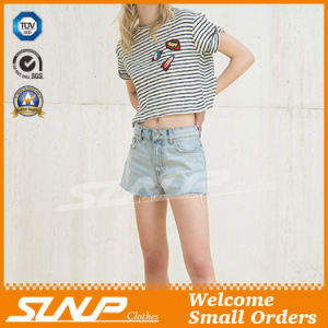 Hot Young Lady Denim Shorts Pant Clothing