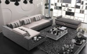 Chinese Furniture/Combination Sofa/Hotel Modern Sectional Sofa/Living Room Modern Sofa/Corner Sofa/Upholstery Fabric Modern Sofa (GLMS-015) pictures & photos