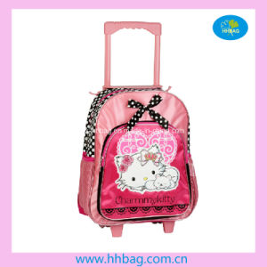 Pink Children School Trolley Wheeled Backpack (YX-HH08023)