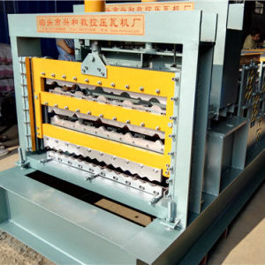 Color Steel Glazed Roof Three Layer Cold Roll Forming Machine