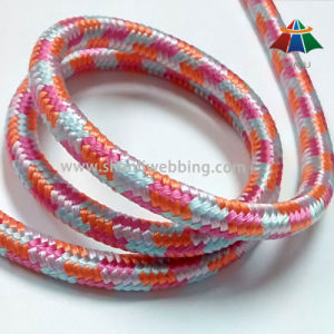8mm Nylon Cord, Striped Nylon Braid Rope pictures & photos