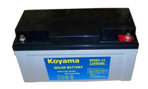 Deep Cycle Solar Battery 12V65ah pictures & photos
