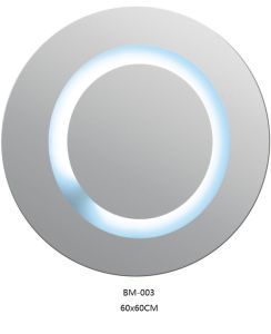 Wall Mounted Round Mirror with LED Lamp