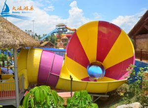 Small Trumpet Water Slide with Skin Raft pictures & photos