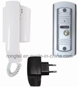 Audio Handset+Silver Metal Doorbell for Villa Intercom System pictures & photos