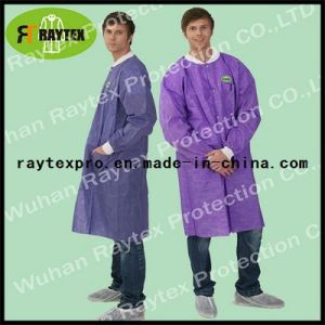Disposable PP/SMS/Microporous Lab Coat