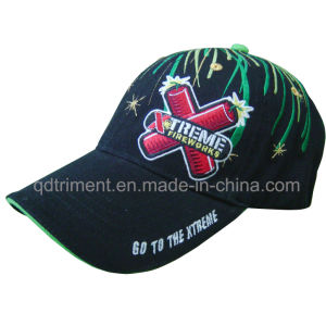 Splash Firework Embroidery Cotton Twill Leisure Baseball Cap (TMB00650-1) pictures & photos