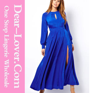 Blue Women Plus Size Long Evening Prom Maxi Dress pictures & photos