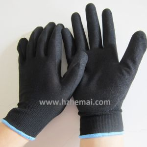 13 Gauge Nylon Gloves Back Sandy Finish Nitrile Coating Work Glove pictures & photos