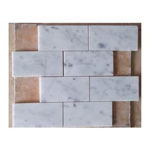 Carrara White Marble Mosaic for Bathroom pictures & photos