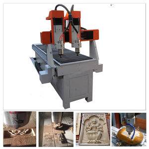 Wood Mini CNC Router for Wood Furniture Brass Alumnium Engraving pictures & photos