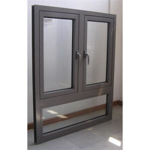 Thermal Break Aluminum Double Sashes Casement Windows with Double Glazing