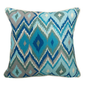 Ikat Digital Printed Chenille Pillow Case