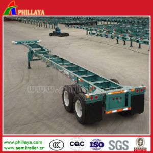 20-40ft Container Loading Chassis Truck Semi Folding Trailer pictures & photos