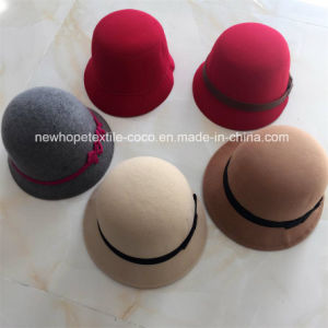 Fashion Colourful 100% Wool Trilby Hat with Hat Self Fabric and Buttons Decoration pictures & photos