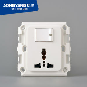 Flame Retardant PC Plastic 1gang Multi Switch Socket pictures & photos
