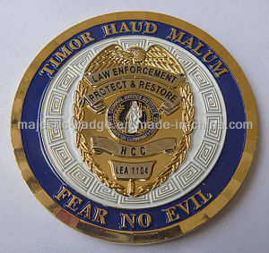 Customized Soft Enamel Bevel Cut Edge Challenge Coin pictures & photos