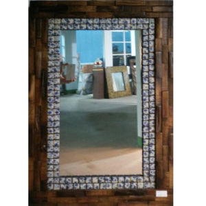 Latest Wooden Framed Dessing Mirror Decor with High Quality (LH-000521) pictures & photos