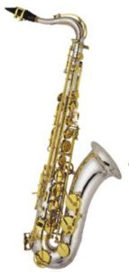 Silver Plated Body Tenor Saxophone
